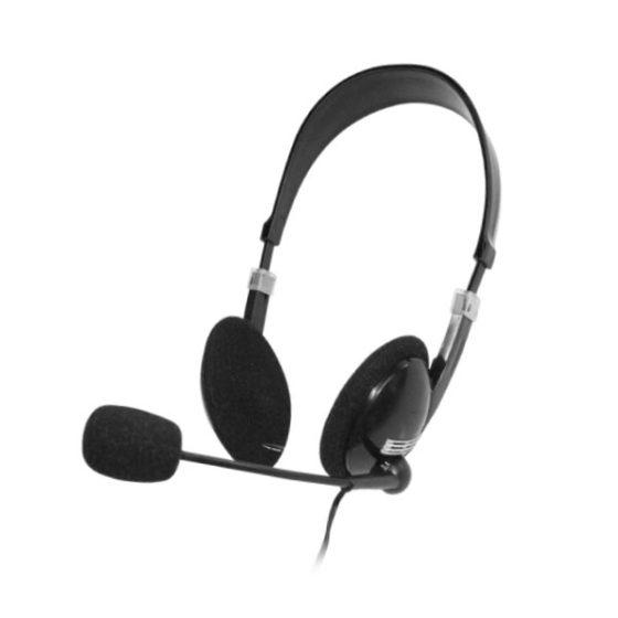 Ακουστικό με μικρόφωνο Black/Silver HVT AHP-301