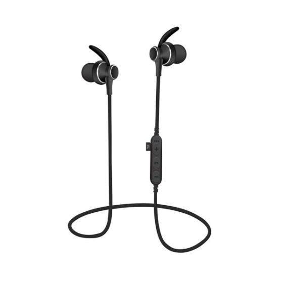 Ακουστικό Bluetooth V4.2 με μικρόφωνο και microSD Μαύρο PLATINET