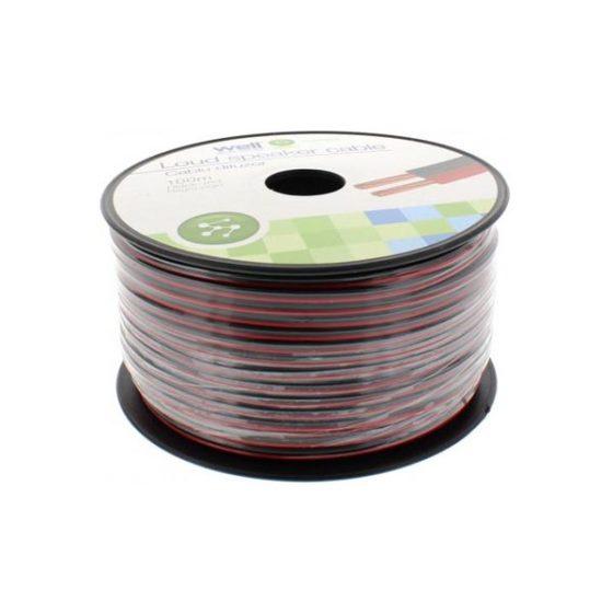 Καλώδιο Ηχείου 100m 2x0.50mm2 CCA Μαύρο/κόκκινο
