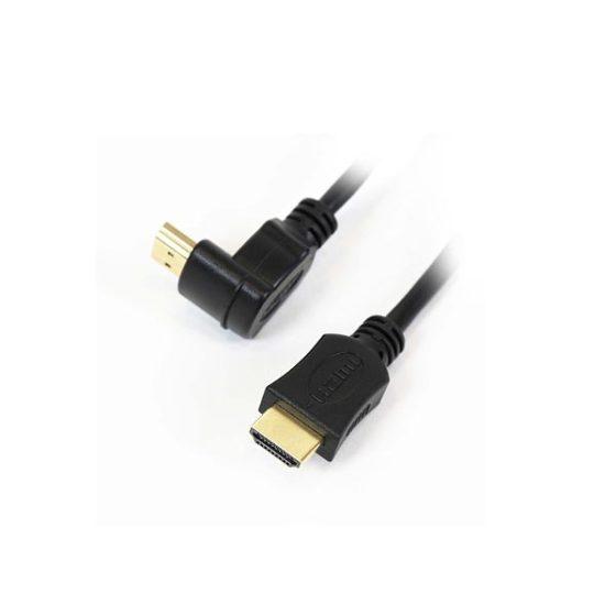 Καλώδιο Hdmi Μ/Μ 5m 1.4V γωνία Gold OMEGA Blister packing