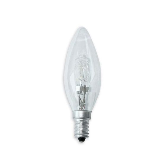 Λάμπα Αλογόνου ECO κερί 28W-E14 clear
