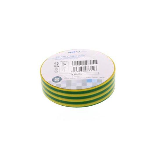 Μονωτική Ταινία Κίτρινη/Πράσινη 1.9cmx20m συσκ.