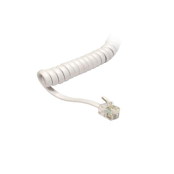 Τηλεφωνικό Σπιράλ 1.8m ανοιχτό 34cm κλειστό Λευκο