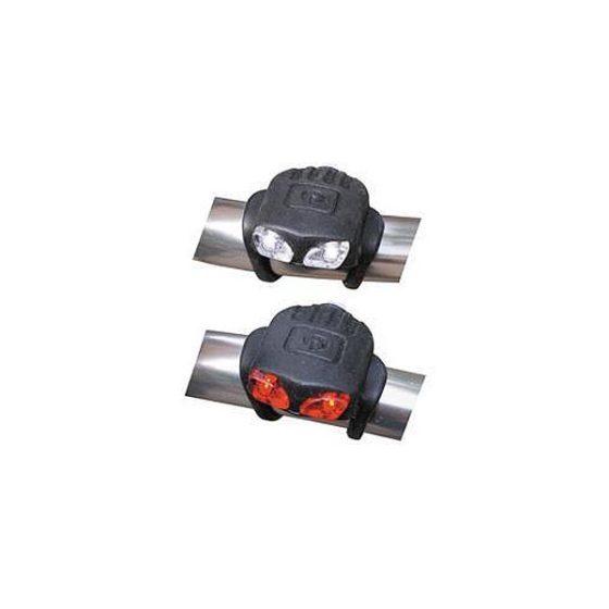 Φακός LED σιλικόνης ποδηλάτου σετ των 2τεμ