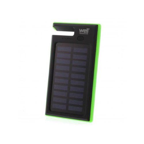 Φορητός Ηλιακός Φορτιστής & Power Bank 4000mA   micro USB καλώδιο WELL
