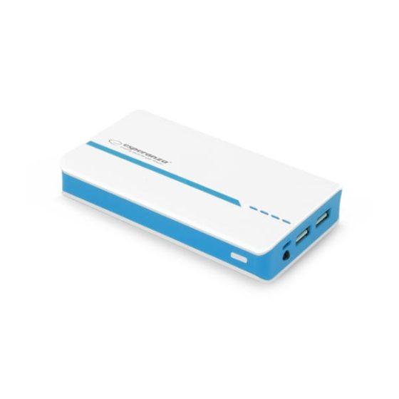 Φορητός Φορτιστής 11000mA Power Bank άσπρο/μπλε EMP107WB