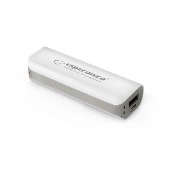 Φορητός Φορτιστής 2200mA Power Bank άσπρο/γκρι EMP103WE