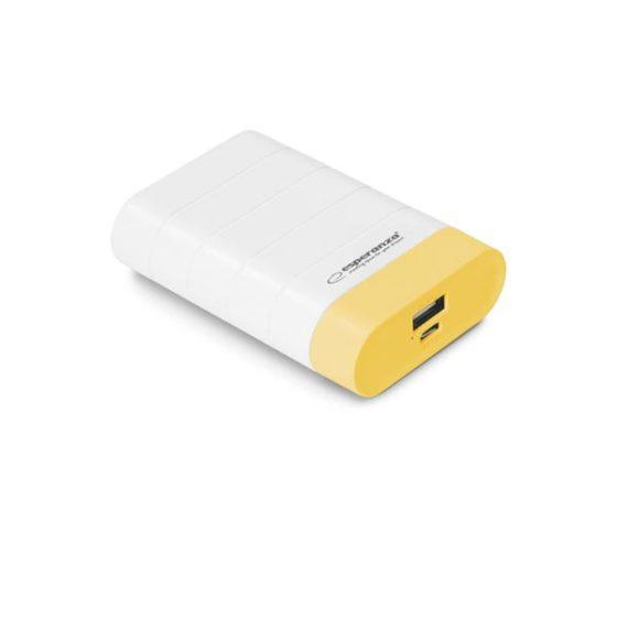 Φορητός Φορτιστής 4800mA λευκό/κίτρινο Power Bank EMP110WY