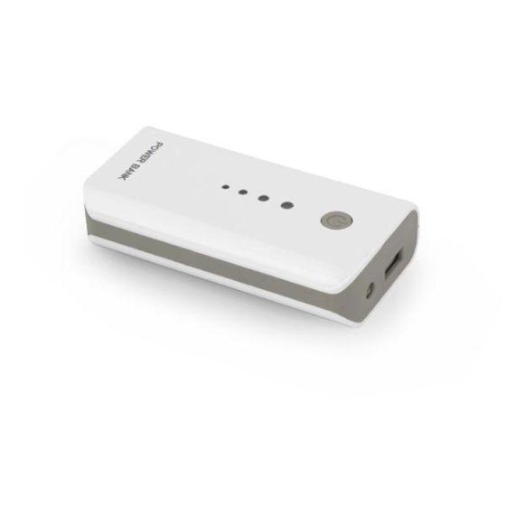 Φορητός Φορτιστής 5200mA Power Bank άσπρο/γκρι EMP104WB