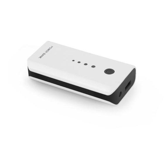 Φορητός Φορτιστής 5200mA Power Bank άσπρο/μαύρο EMP104WK
