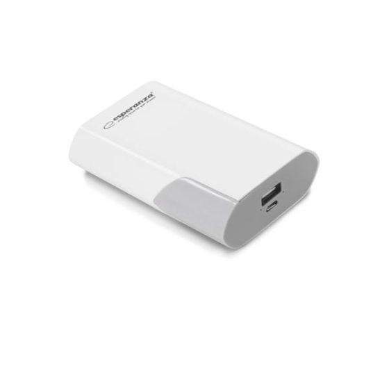 Φορητός Φορτιστής 6000mA λευκό/γκρι Power Bank EMP111WE