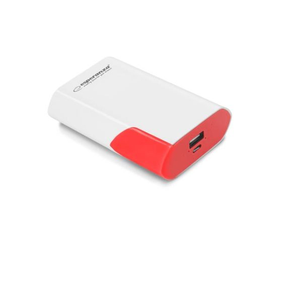 Φορητός Φορτιστής 6000mA λευκό/κόκκινο Power Bank EMP111WR