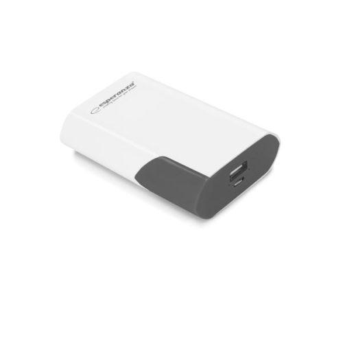 Φορητός Φορτιστής 6000mA λευκό/μαύρο Power Bank EMP111WK