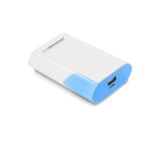 Φορητός Φορτιστής 6000mA λευκό/μπλε Power Bank EMP111WB