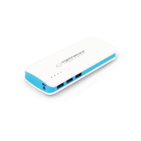 Φορητός Φορτιστής 8000mA Power Bank άσπρο/μπλε EMP106WB