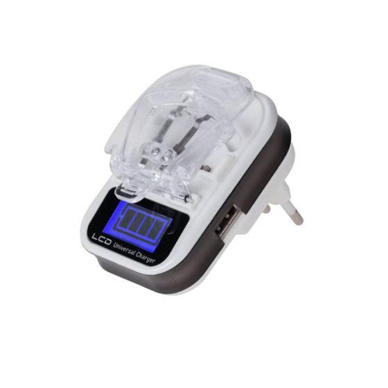 Φορτιστής μπαταριών Li-ion / Li-poly με θύρα USB και οθόνη LCD