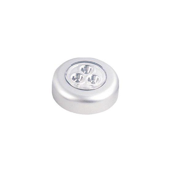 Φωτιστικό HG-6030 Ασημί 3LED Στρογγυλό