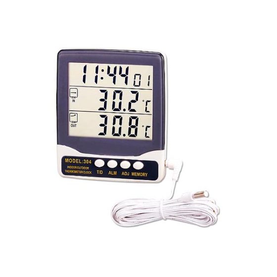 Ψηφιακό Θερμόμετρο 304  Εσωτερικού/Εξωτερικου Χώρου