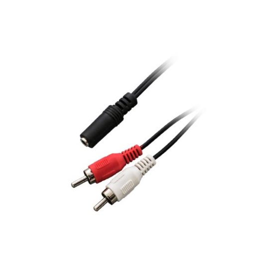 0.2M  2RCA Plug To mini Jack Nickel EB261