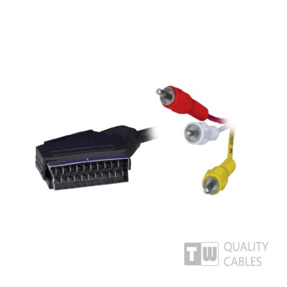 1.5M 3RCA To Scart Cable - Ccs