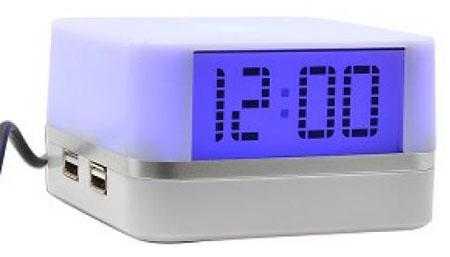 USB Hub 4 Θυρών & Ρολόι