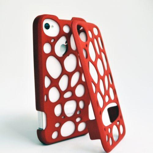 Freshfiber Διπλή Θήκη 3D Macedonia για iPhone 4/4S - Κόκκινο