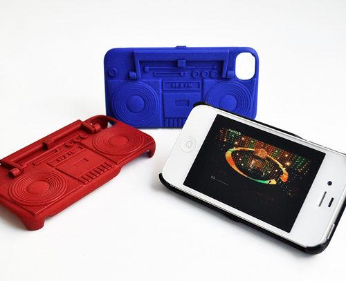 Freshfiber Θήκη και Βάση Κασετόφωνο για iPhone 4/4S - Μαύρο