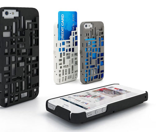Freshfiber Θήκη Mondriaan με Υποδοχή Καρτών για iPhone 4/4S - Λευκό