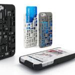 Freshfiber Θήκη Mondriaan με Υποδοχή Καρτών για iPhone 4/4S - Μαύρο