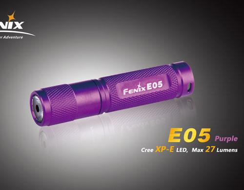 Fenix E05 LED Flashlight Purple