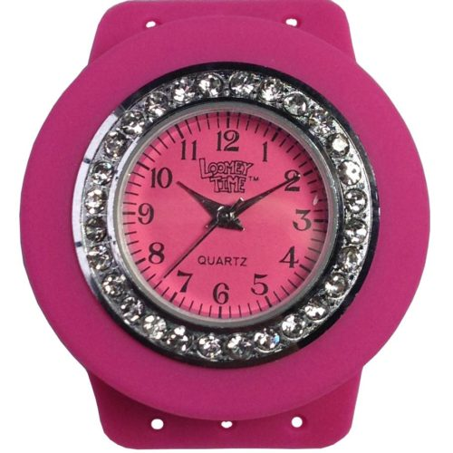 Loomey Time Ρολόι Ροζ με στρασάκια