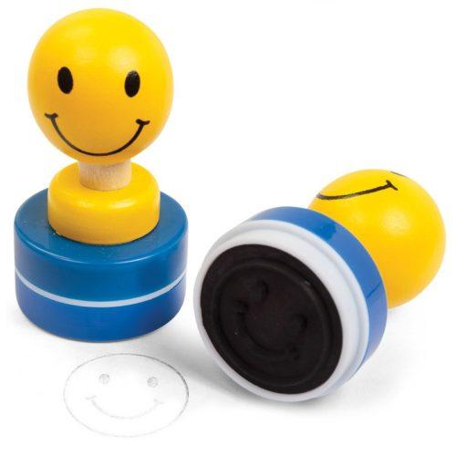 Ξύλινη σφραγίδα χαμόγελο