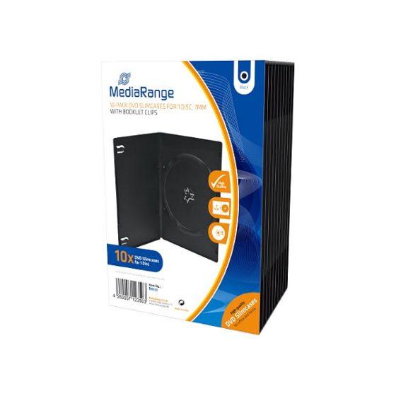 BOX33 MediaRange DVD Slimcases black 10 pack
