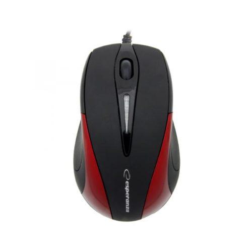 Business series Ενσύρματο Ποντίκι 3D μαύρο/κόκκινο Esperanza EM102R