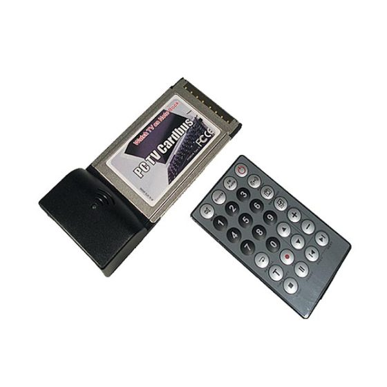 Cardbus MTV-500 TV Tuner + Fm-Radio