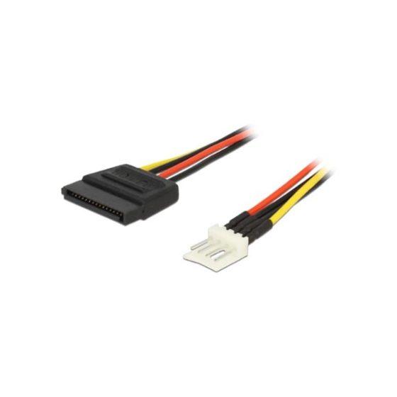 DELOCK Καλώδιο ρεύματος 0.15m από 4PIN floppy σε SATA 83918