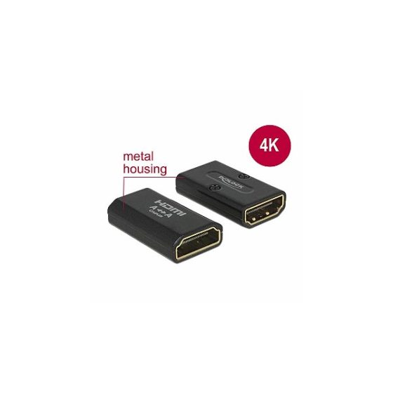 DELOCK ADAPTOR 4K HDMI-A Female To HDMI-A Female 65659