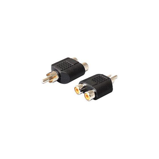 DELOCK Adaptor  2x Rca F/ 1x Rca M 84499