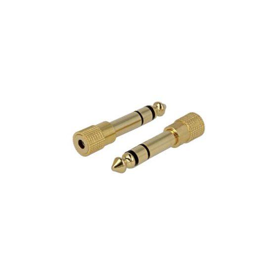 DELOCK Adaptor Stereo 6.3MM F/St3.5MM M Metal