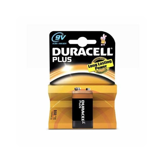 DURACELL PLUS ALC 9V 6LR61 1τεμ Αλκαλική Μπαταρία