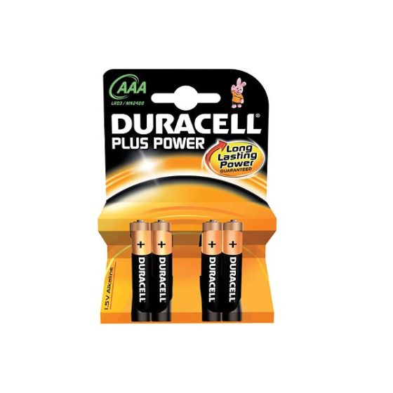 DURACELL PLUS POWER ALC LR03 AAA 4τεμ Αλκαλική Μπαταρία