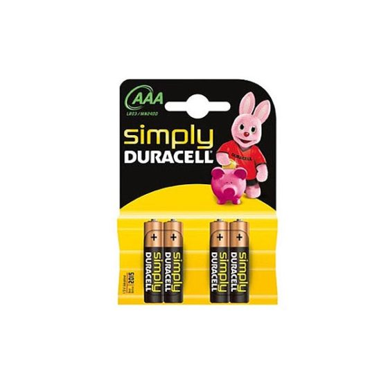 DURACELL SIMPLY ALC LR03  AAA 4τεμ Αλκαλική Μπαταρία