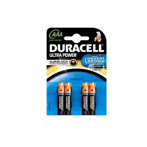 DURACELL ULTRA POWER ALC  AAA 4τεμ.  Αλκαλική Μπαταρία
