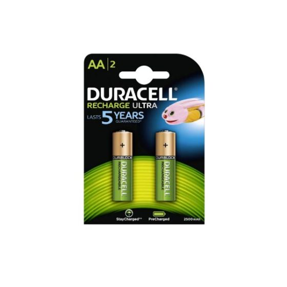 DURACELL Ultra  AA 2500 2τεμ Επαναφορτιζόμενη Μπαταρία