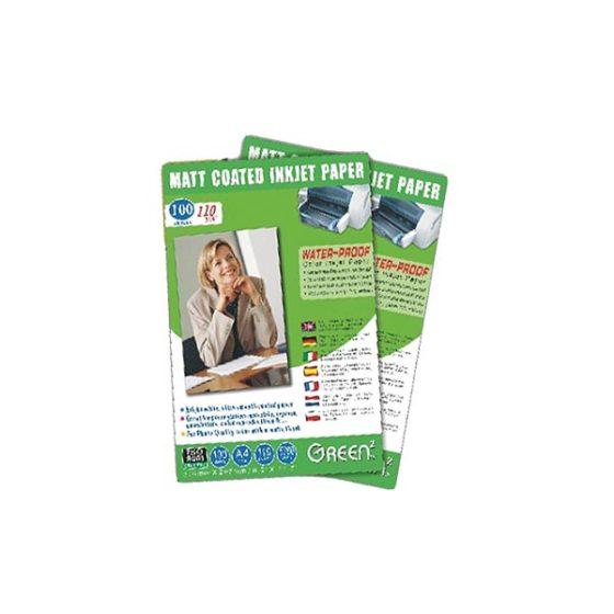 Green GN-mj-110A4-matt coated 1/5 paper (waterproof) 110g 100shts
