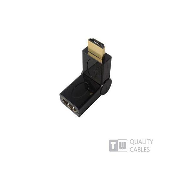 HDMI Male To HDMI Female Γωνία 180Μοιρών