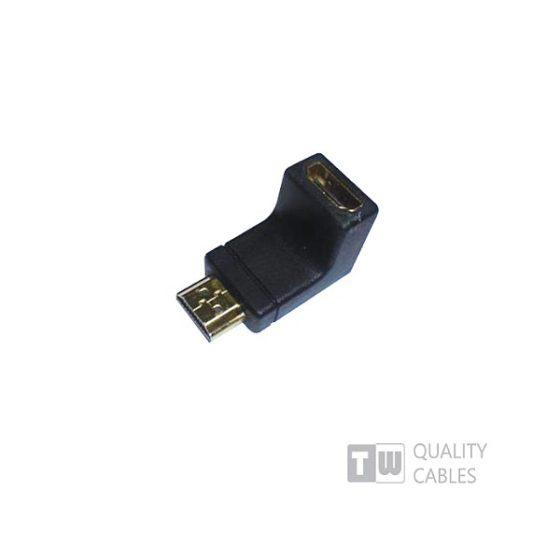 HDMI Male WS-CAHM01f To HDMI Female Γωνία 90Μοιρών