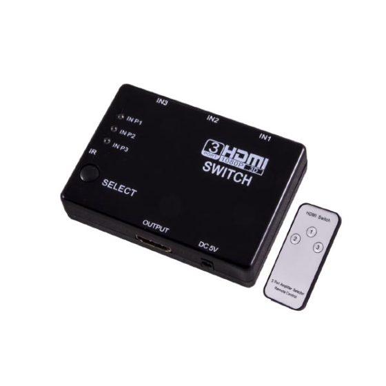 Hdmi Switch 3 Ports w/IR Sensor & Remote control EB267