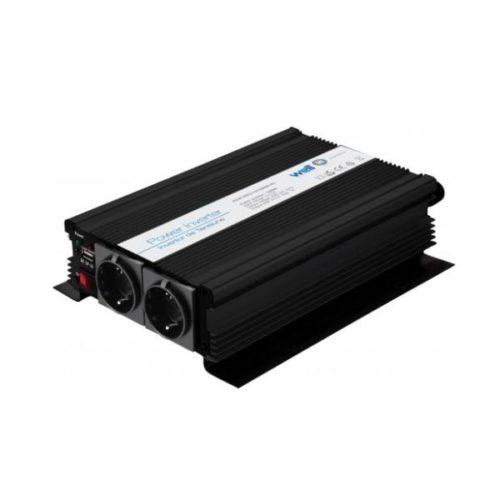 Inverter 1000W 12V DC σε 220V AC WELL με θύρα USB
