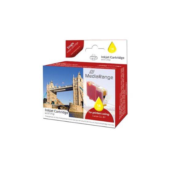 MediaRange Inkjet CLI-8Y Yellow IP4200/4300/5200/5200R/5300/4500/6600D/6700D